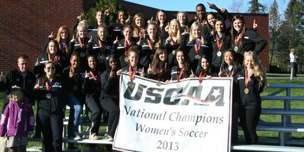 The UMFK Women won their 3rd Championship in the last four years - Women&rsquo;s team members pictured - Front Row Left-Right; Head Coach Lucas Levesque, Assistant Coach Mindy Morneault, Safiya Atkinson, Tiffany Anderson, Ashleigh Williams, Katherine Ferland, Victoria Dubois-Iredale, Brooke Harris, Ariane Laberge-Pelletier, Marie-Laurence Montagne, Brianna Mills; 2nd Row (1 person only) Liz Morneault; 3rd Row Left-Right, Jessica Kozachuk, Sadie Gosse, Heidi Feichter, Kayla Richards, Erin Madore, Emma Ashby, Nathalie Michaud, Sarah Paradis, Kalee Kershner; 4th Row Left-Right; Assistant Coach Nick Thibodeau, Samantha Carapellucci, Megan Perry, Lexi Desjardins, Amanda Giggey, Kimika Forbes, Merima Ljiljak <em></em>