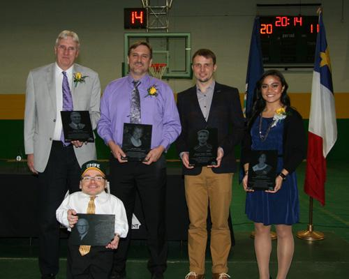 Pictured Left to Right Bruce Hanken, Jim McCloskey, Donny Sumyla, Amber Garrison, James Harvey (Front)