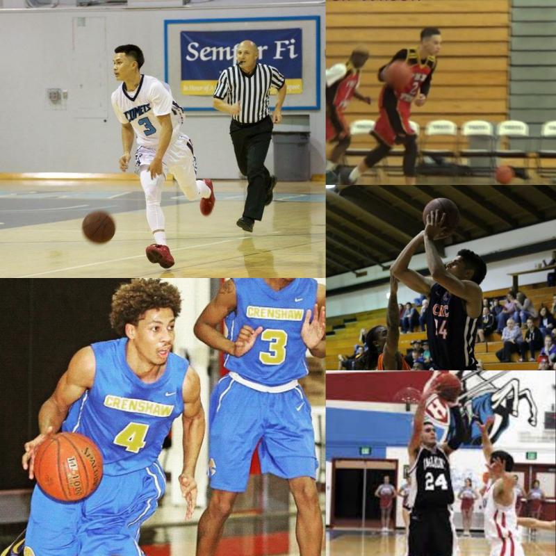 <strong>Photo Attached: From top left, clockwise: Bobby Syvanthong, Stephon Bell-Wilson (red jersey), Will White, James Testa and Ryan Campbell (blue jersey).</strong>